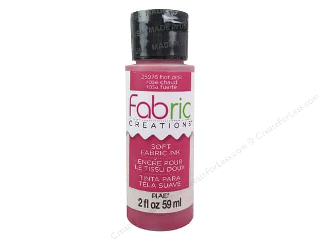 Plaid Fabric Creations Soft Fabric Ink 2 oz. Hot Pink