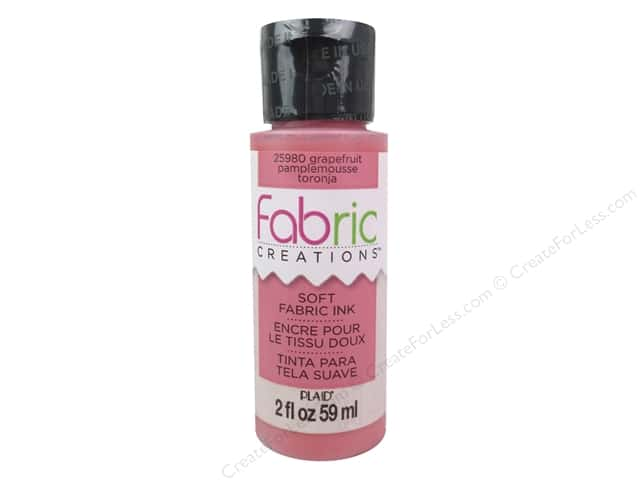 Plaid Fabric Creations Soft Fabric Ink 2 oz. Grapefruit