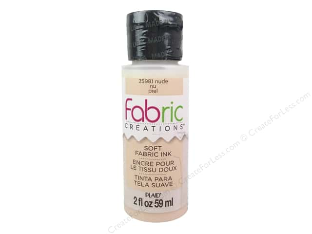 Plaid Fabric Creations Soft Fabric Ink 2 oz. Nude