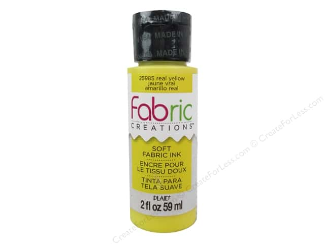 Plaid Fabric Creations Soft Fabric Ink - Real Yellow 2 oz.