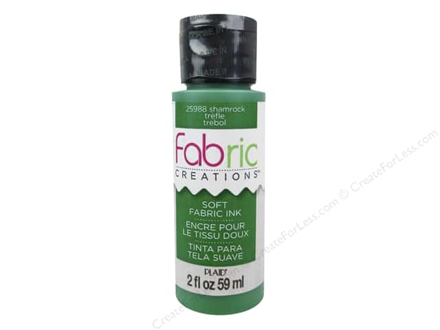 Plaid Fabric Creations Soft Fabric Ink 2 oz. Shamrock