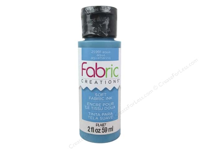 Plaid Fabric Creations Soft Fabric Ink 2 oz.  Aqua