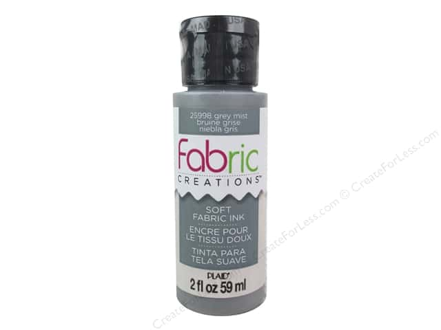 Plaid Fabric Creations Soft Fabric Ink 2 oz. Grey Mist