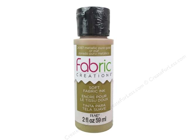 Plaid Fabric Creations Soft Fabric Ink 2 oz. Metallic Pure Gold