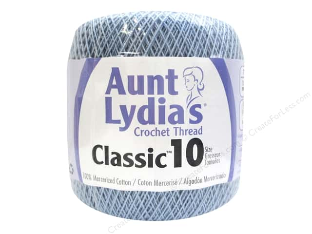 Aunt Lydia's Classic Cotton Crochet Thread Size 10 350 yd. Delft