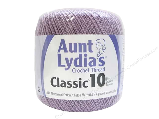 Aunt Lydia's Classic Cotton Crochet Thread Size 10 350 yd. Wood Violet