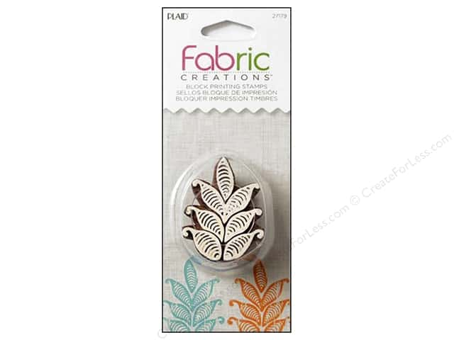 Plaid Fabric Creations Block Printing Stamp Small Fern