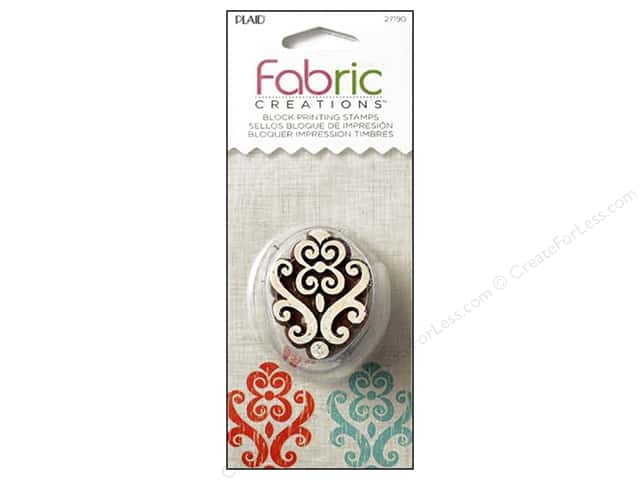 Plaid Fabric Creations Block Printing Stamp Small Baroque Flourish
