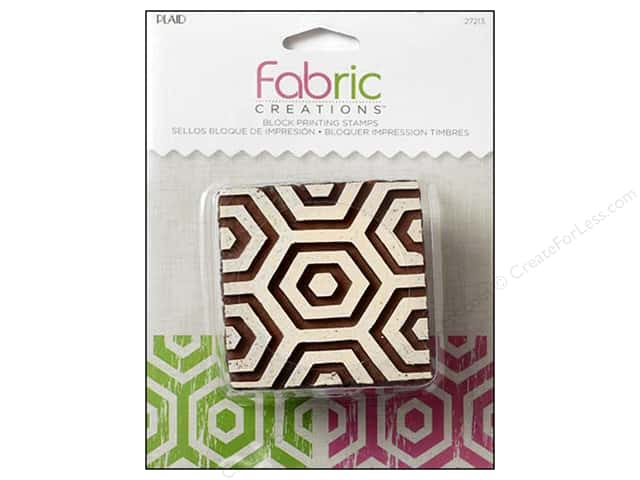 Plaid Fabric Creations Block Printing Stamp Medium Hex Honeycomb