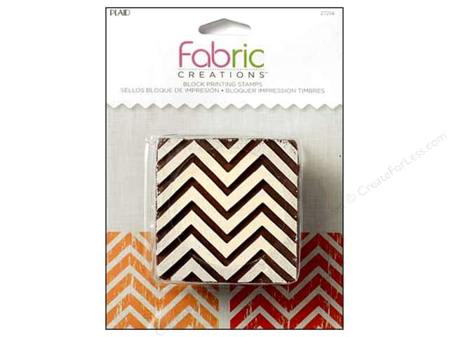 Plaid Fabric Creations Block Printing Stamp Medium Chevron