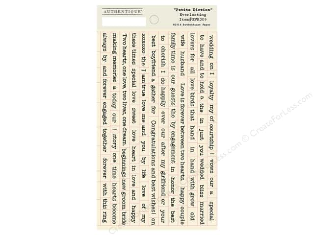 Authentique Stickers Everlasting Petite Diction (12 sets)