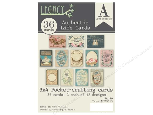 Authentique Authentic Life Cards Legacy
