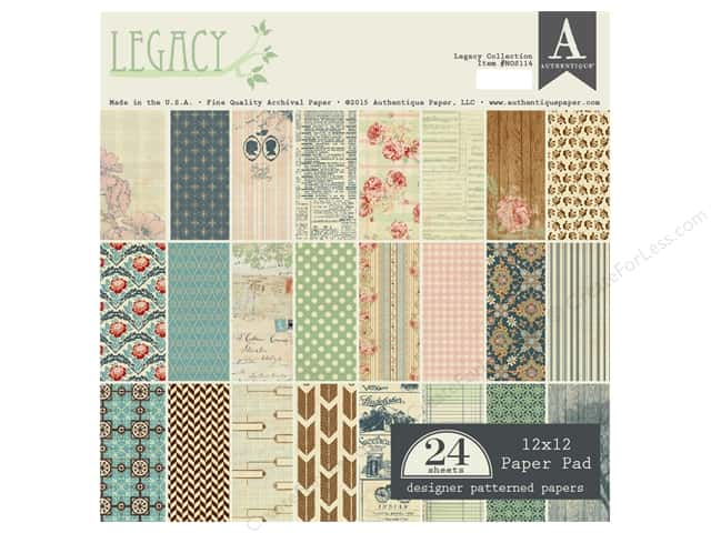 Authentique 12 x 12 in. Paper Pad Legacy Collection