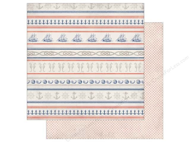 Authentique 12 x 12 in. Paper Seaside Maritime (25 sheets)
