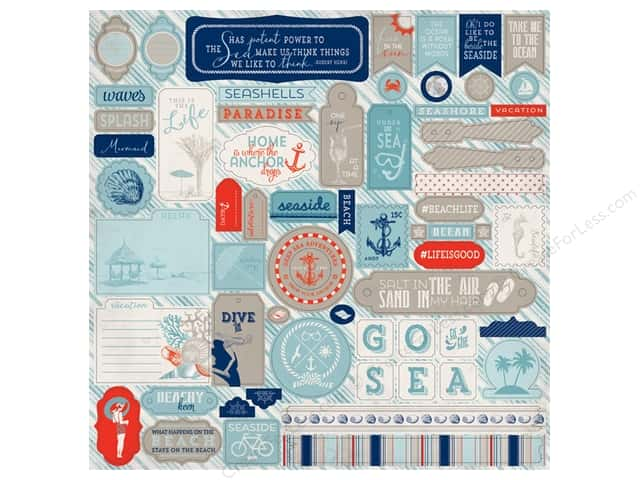 Authentique Stickers 12 x 12 in. Seaside Details (12 sheets)