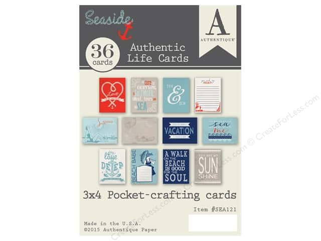 Authentique Authentic Life Cards Seaside