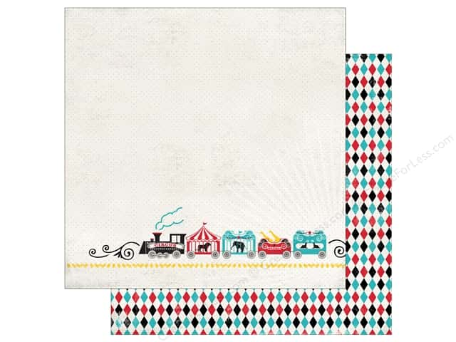 Carta Bella 12 x 12 in. Paper Circus Party Circus Train (25 sheets)