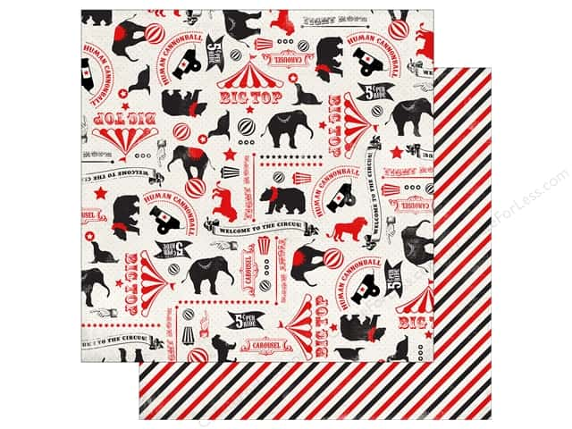 Carta Bella 12 x 12 in. Paper Circus Party Circus Icons (25 sheets)