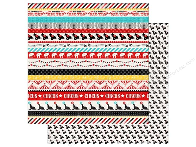 Carta Bella 12 x 12 in. Paper Circus Party Circus Borders (25 sheets)