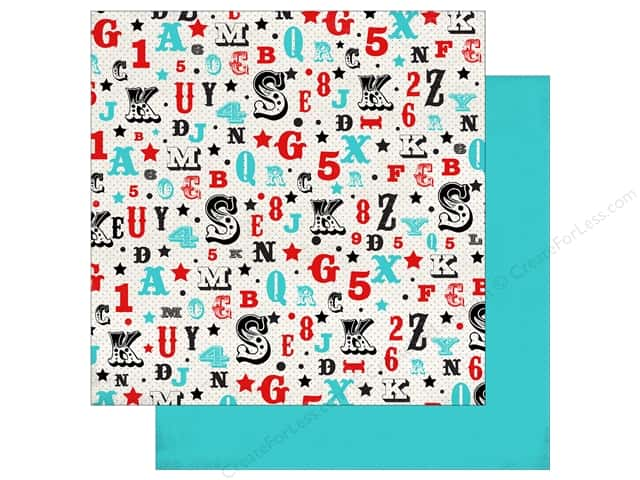 Carta Bella 12 x 12 in. Paper Circus Party Letters & Numbers (25 sheets)