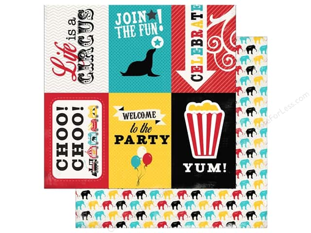 Carta Bella 12 x 12 in. Paper Circus Party Journaling Cards (25 sheets)