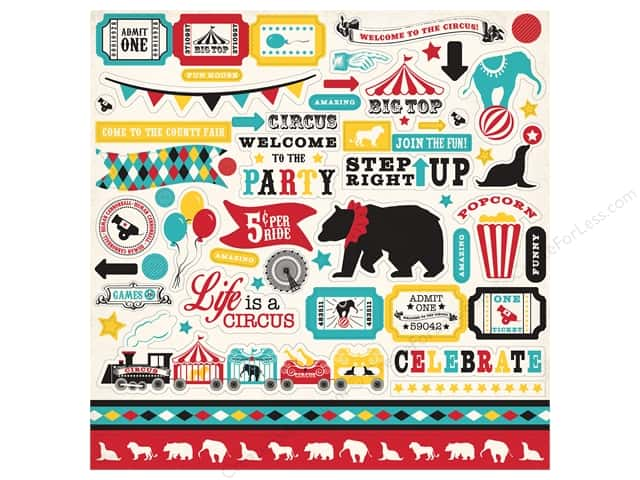 Carta Bella Stickers Circus Party (15 sheets)
