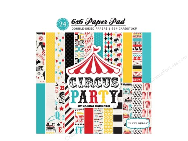 Carta Bella 6 x 6 in. Paper Pad Circus Party