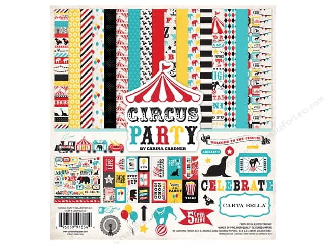 Carta Bella 12 x 12 in. Collection Kit Circus Party