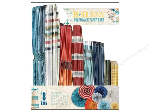 Bo Bunny Paper Fans 8 pc. Boardwalk