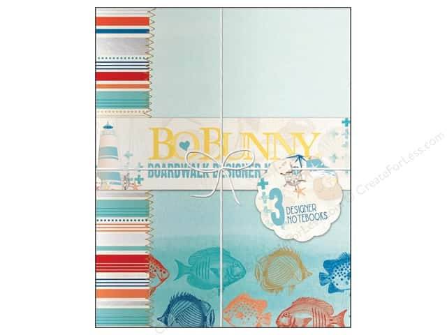 Bo Bunny Designer Notebooks 3 pc. Boardwalk