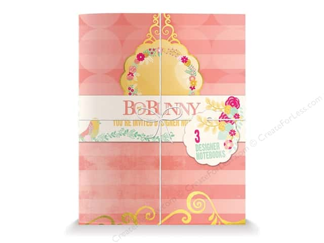 Bo Bunny Designer Notebooks 3 pc. You're Invited