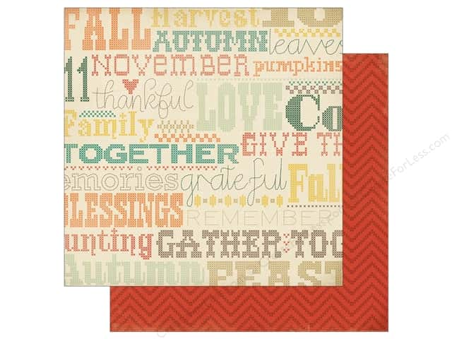 Carta Bella 12 x 12 in. Fall Blessings Cross Stitching (25 sheets)