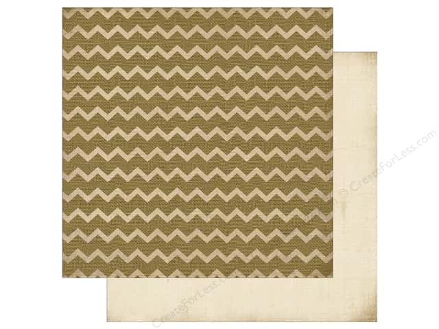 Carta Bella 12 x 12 in. Fall Blessings Burlap Chevron (25 sheets)