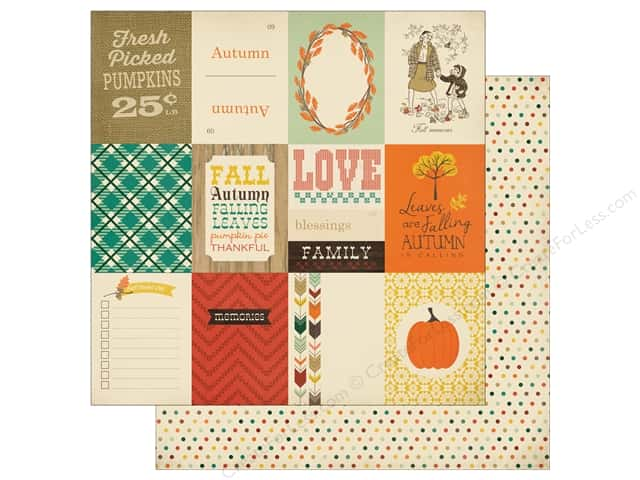 Carta Bella 12 x 12 in. Paper Fall Blessings 3 x 4 Journaling Cards (25 sheets)