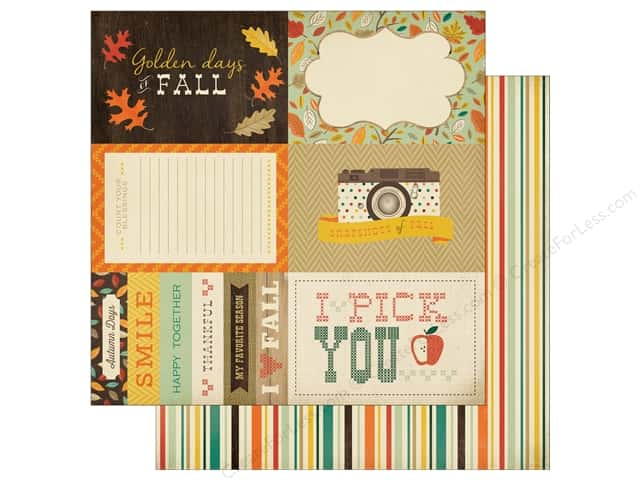 Carta Bella 12 x 12 in. Paper Fall Blessings 4 x 6 Journaling Cards (25 sheets)