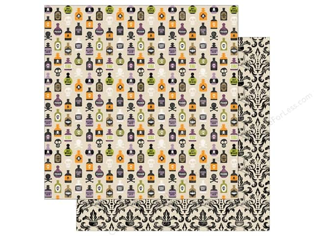 Echo Park 12 x 12 in. Paper Hocus Pocus Collection Poison Bottles (25 sheets)