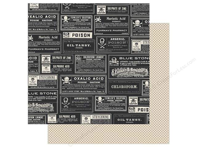 Echo Park 12 x 12 in. Paper Hocus Pocus Collection Poison Labels (25 sheets)