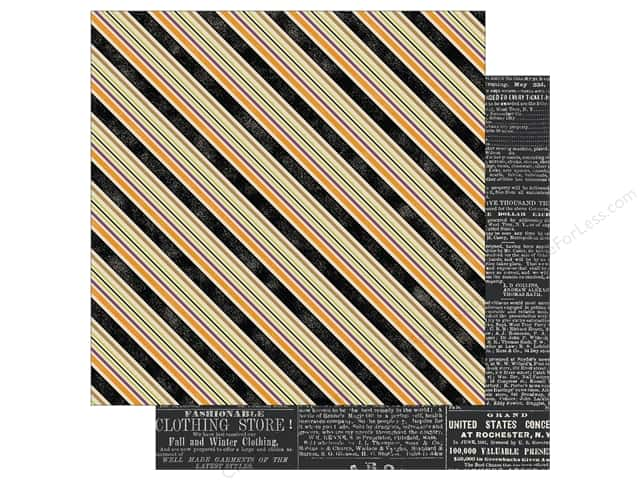 Echo Park 12 x 12 in. Paper Hocus Pocus Collection Multi Stripe (25 sheets)