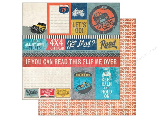 Echo Park 12 x 12 in. Paper Off Road Collection Journaling Cards (15 sheets)