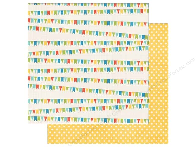 Echo Park 12 x 12 in. Paper A Fair To Remember Collection Flags (15 sheets)