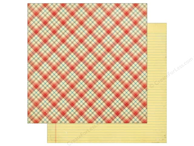 Echo Park 12 x 12 in. Paper Teachers Pet School Days Plaid (25 sheets)