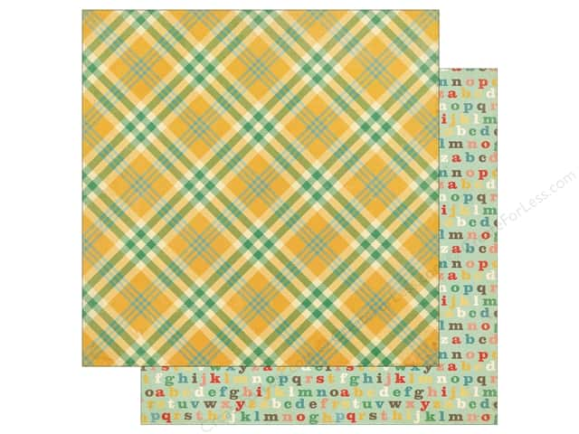 Echo Park 12 x 12 in. Paper Teachers Pet Yellow Plaid (25 sheets)