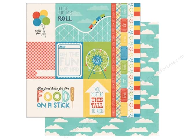 Echo Park 12 x 12 in. Paper A Fair To Remember Collection Cards & Borders (15 sheets)