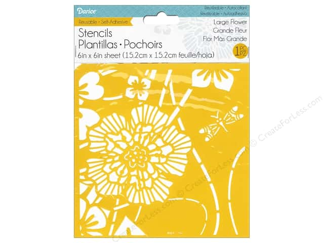 Darice Stencil Self Adhesive 6 x 6 in. Large Flower