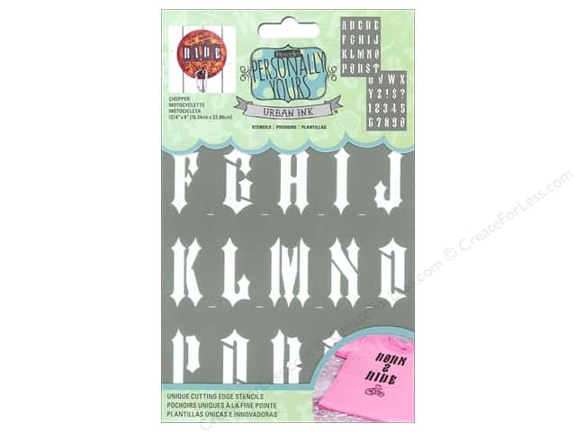 DecoArt Alphabet Stencils Urban Ink 6 x 9 in. Chopper