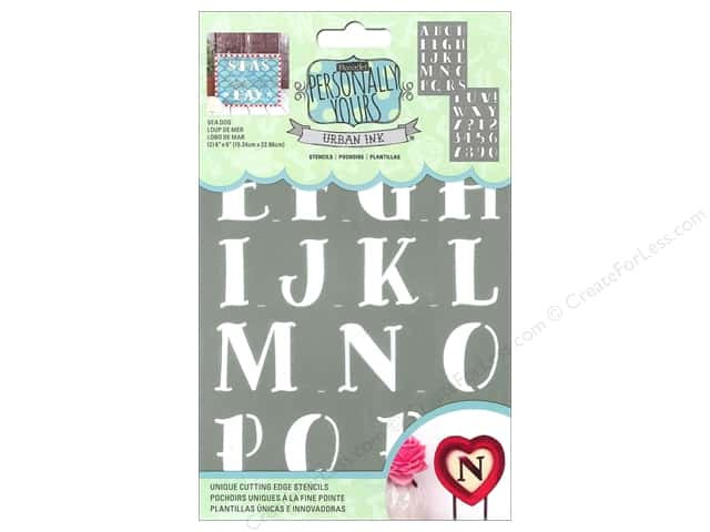 DecoArt Alphabet Stencils Urban Ink 6 x 9 in. Sea Dog
