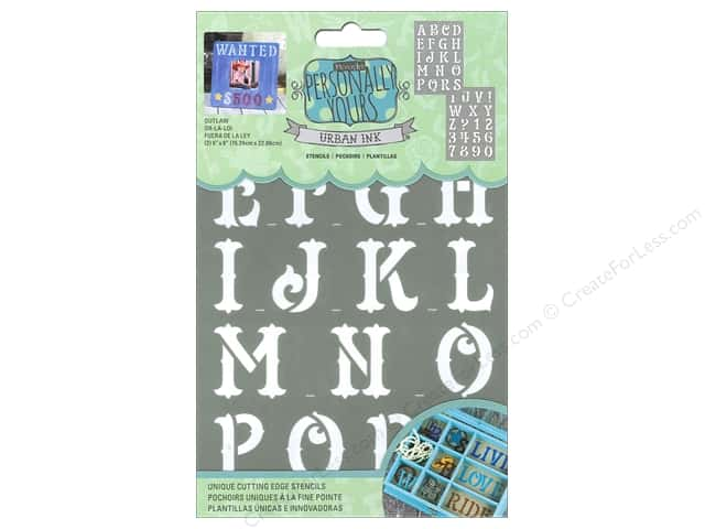 DecoArt Alphabet Stencils Urban Ink 6 x 9 in. Outlaw