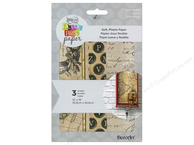 DecoArt Americana Decoupage Paper 12 x 16 in. Old Worlde