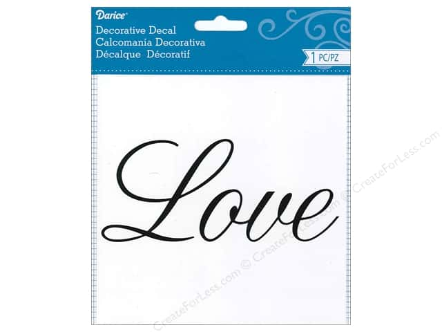 Darice Decorative Decal 5 3/4 x 2 1/2 in. Love