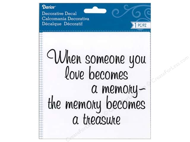 Darice Decorative Decal 5 1/2 x 4 in. Someone You Love
